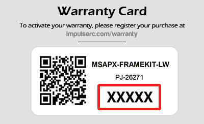 ImpulseRC Warranty Card